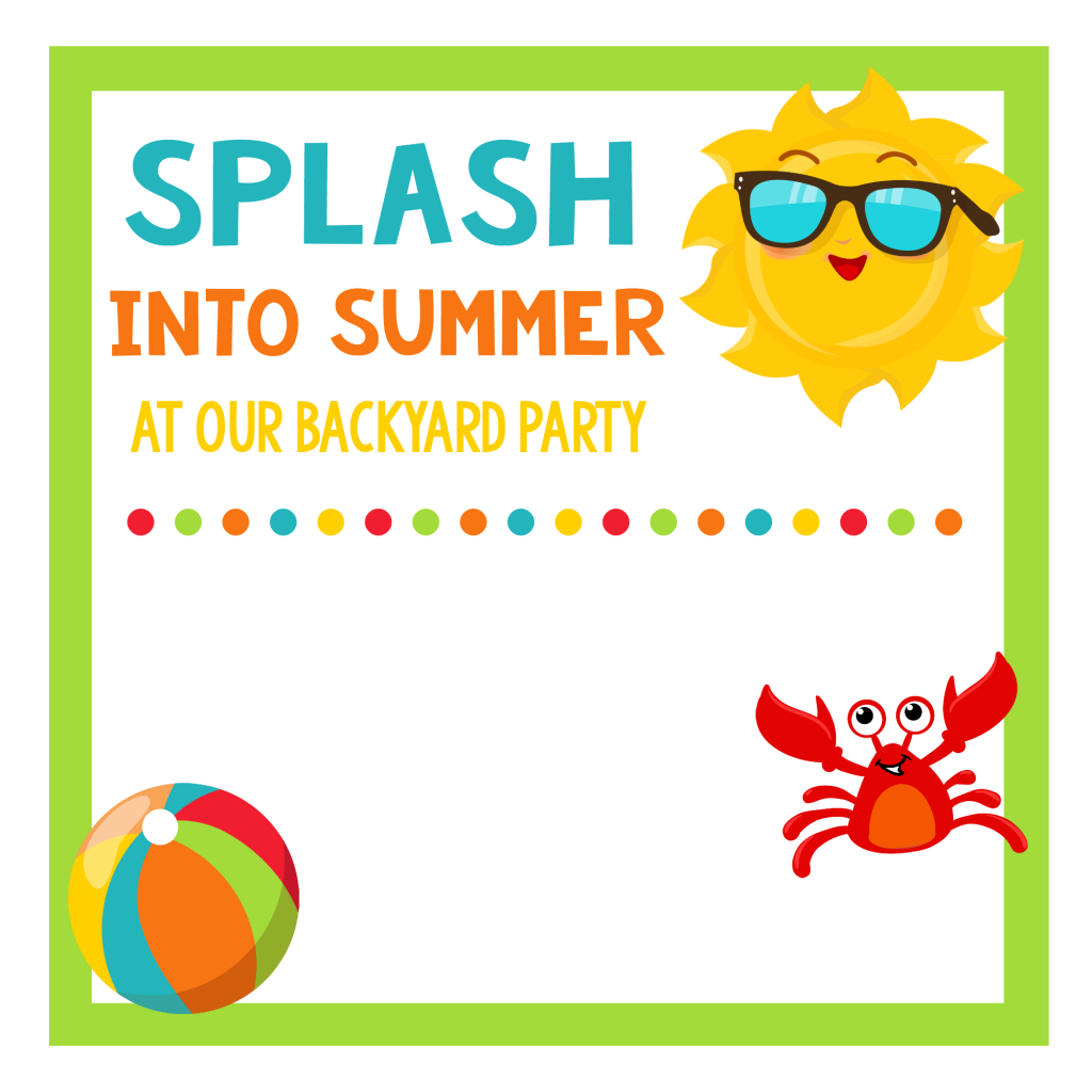 Splash Into Summer Party Invitations Printables FunSquared – Summer Party Invite