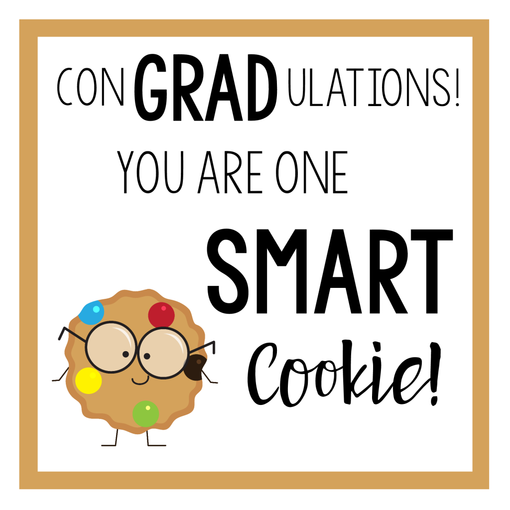 Gift Tag for Smart Cookie Graduation Gift Idea