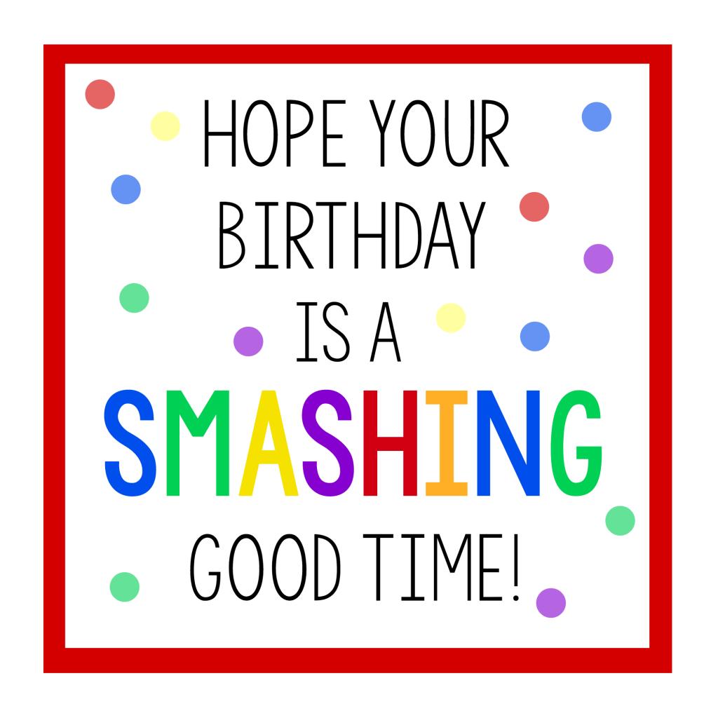 Smashing Good Birthday Gift Tag