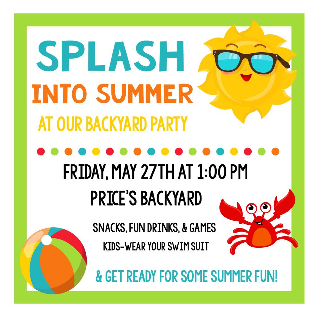 Splash Into Summer Party Invitations