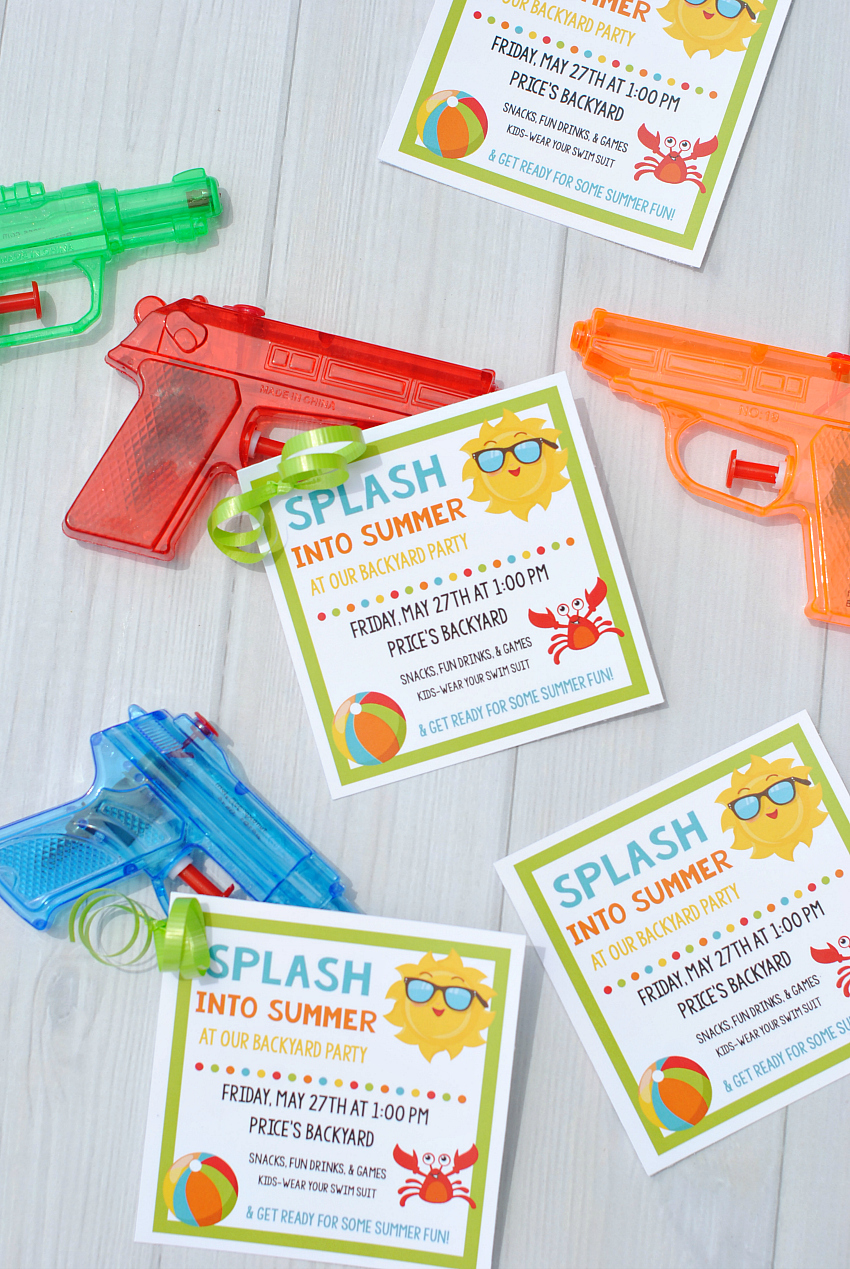 Splash Into Summer Party Invitations & Printables – Fun-Squared