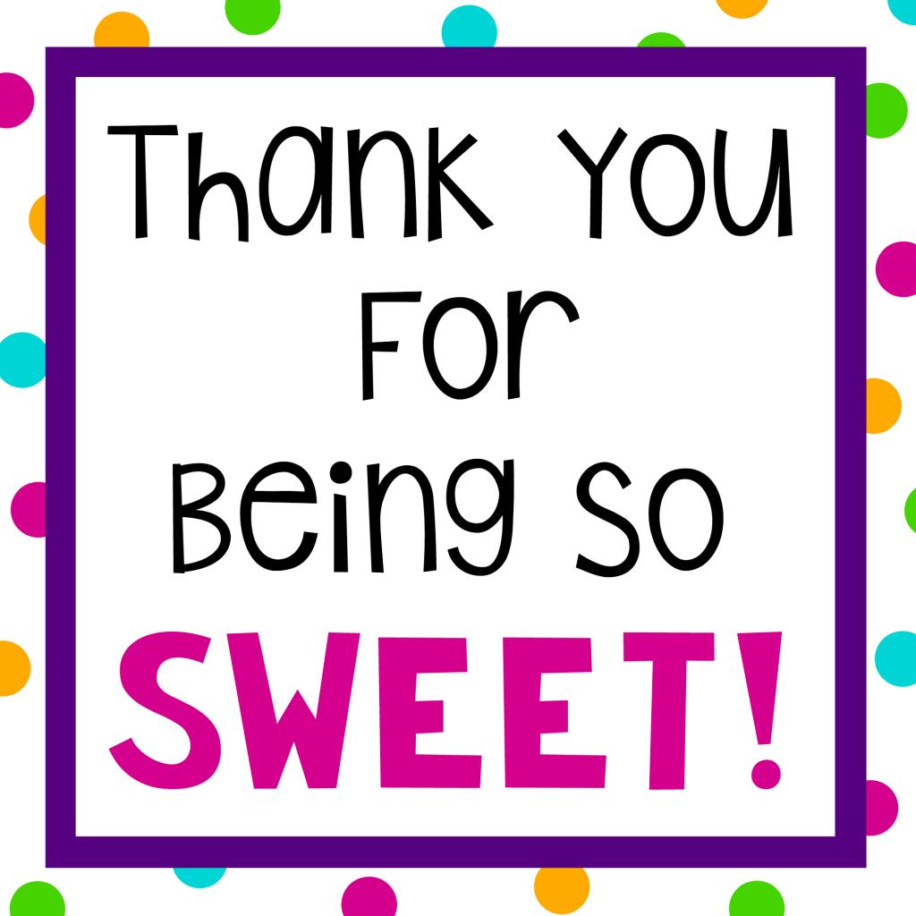 Sweet Thank Gift Idea on Teacher Appreciation