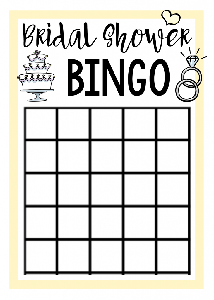Juicy image with printable bridal bingo