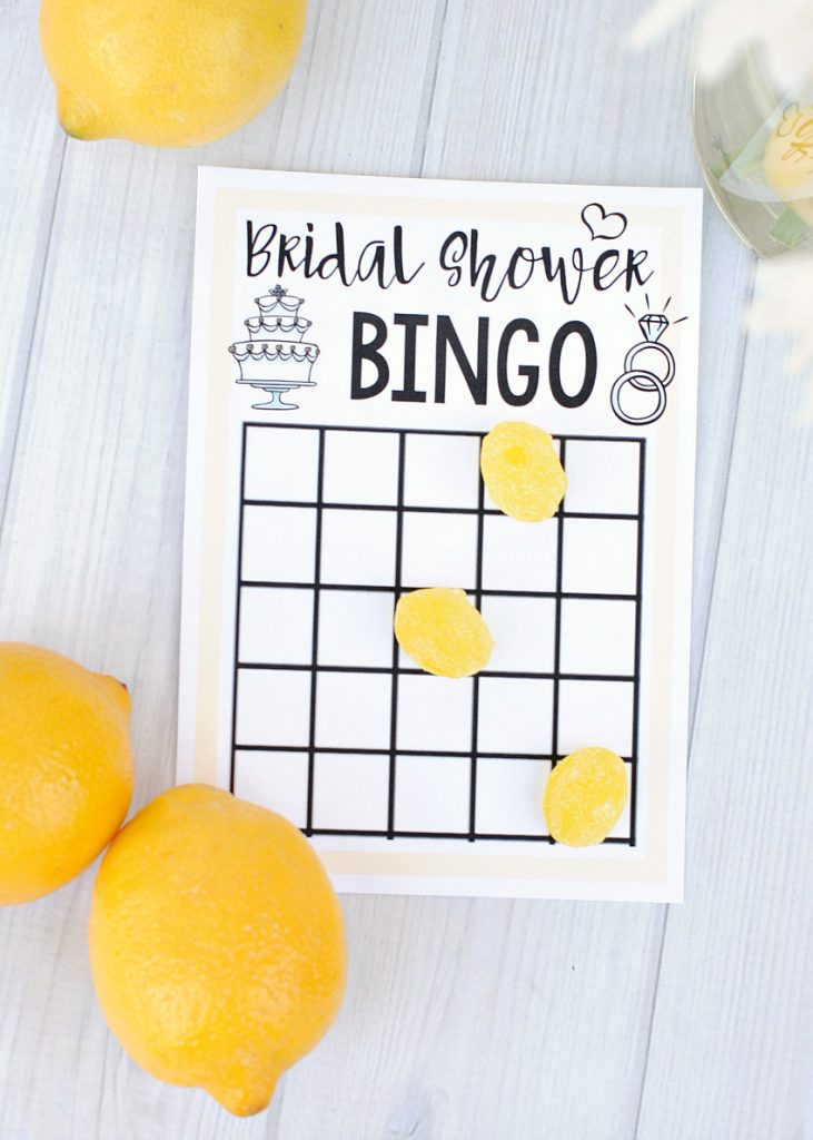 Printable Bridal Shower Bingo Game