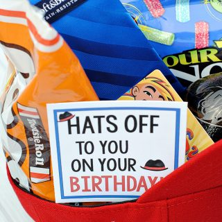 Creative Father's Day Gifts or Birthday Gift for Guys: Hats Off