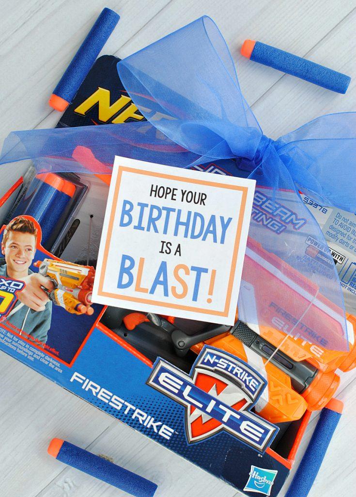 Nerf Gun Birthday Gift Idea