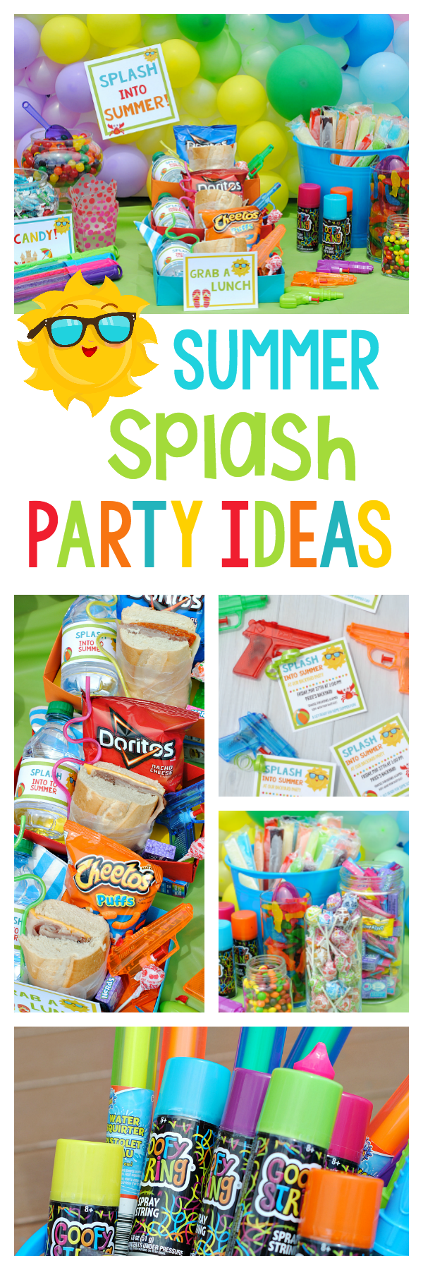 School's Out Party for Kids-Great party to throw to celebrate summer break with the kids. A fun kids summer party for kids of any age! Water party ideas with great games and food.  #summerparty #summer #kids #kidsactivities #kidsparty #kidsparties #summerfun