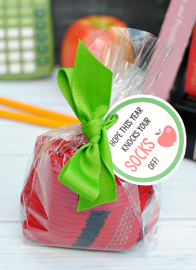 Cute Back to School Gift Idea-Hope this year knocks your SOCKS off!