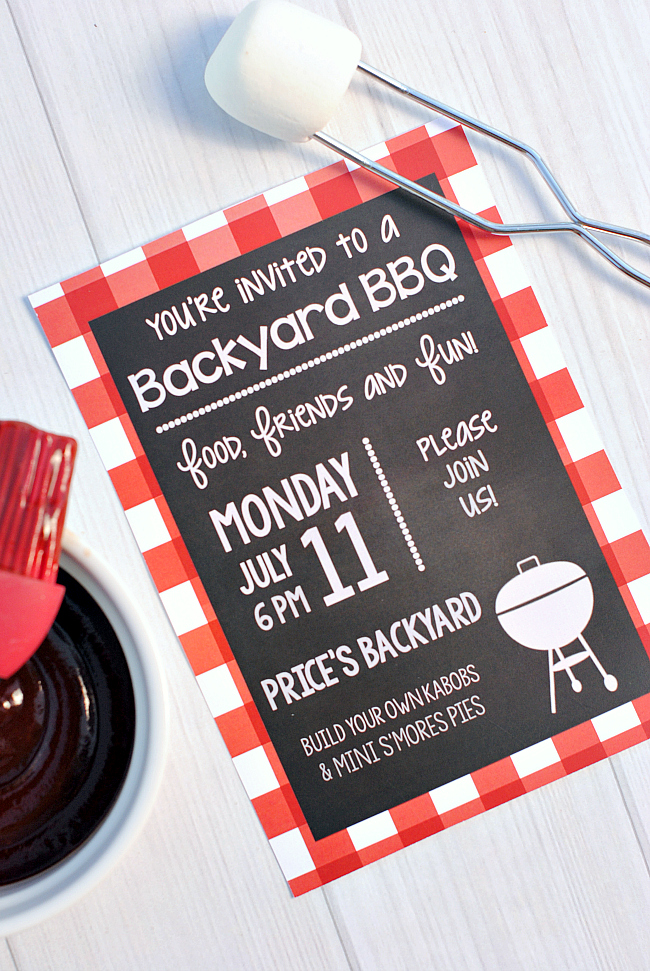 Free Printable BBQ Invitations