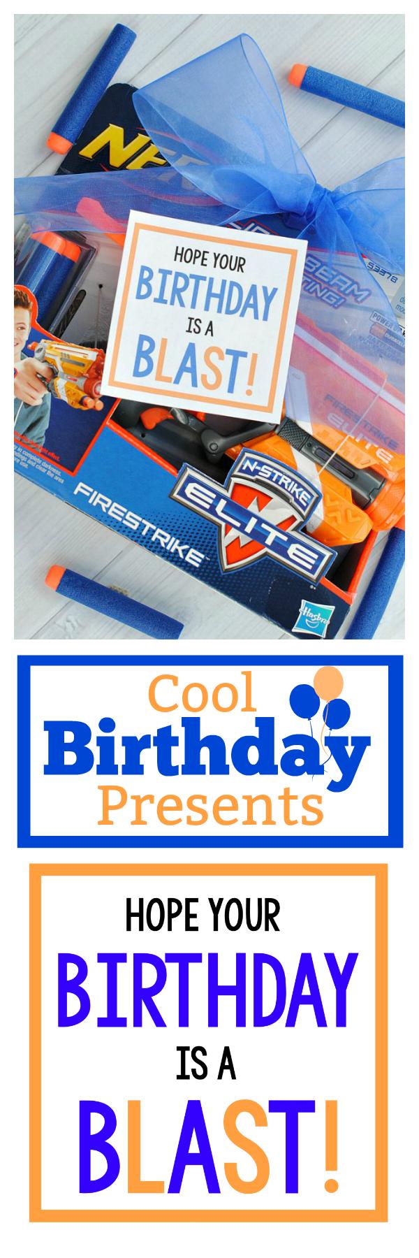 Cool Birthday Presents: Nerf Gun Gift Idea. Simple and fun birthday gift idea