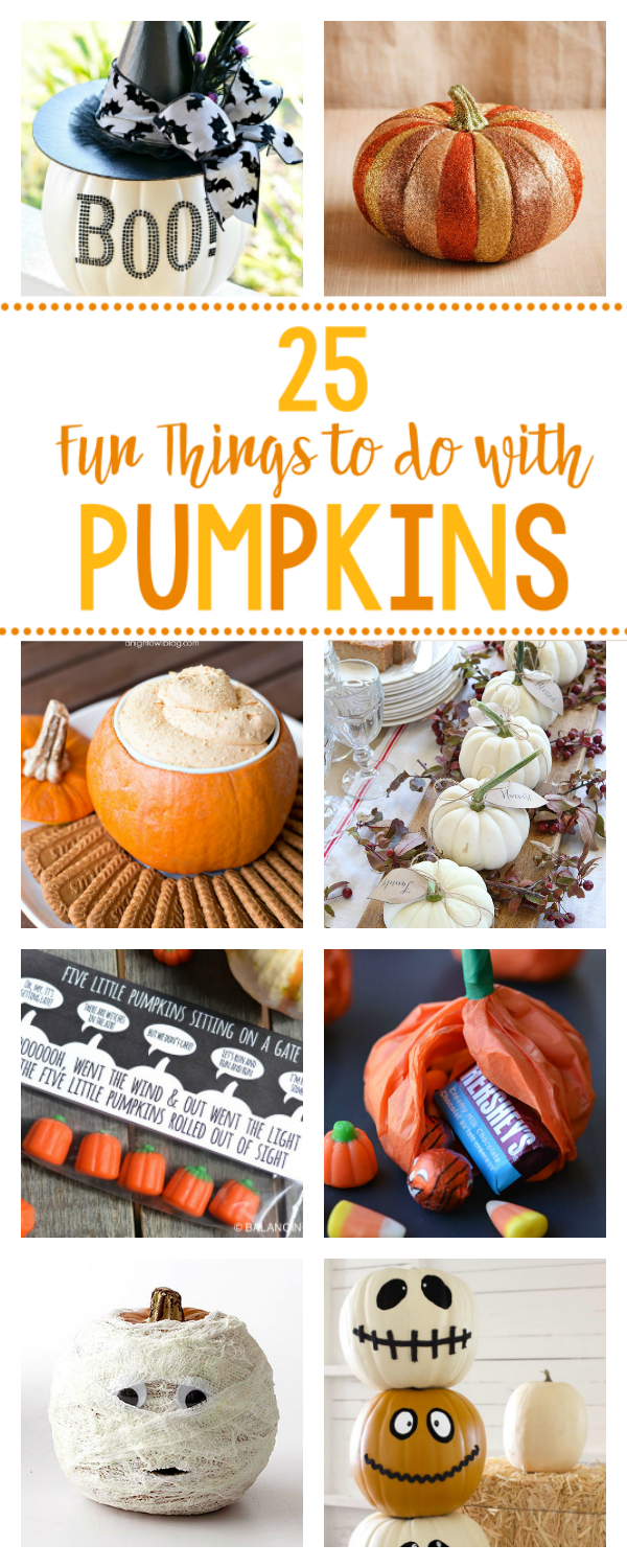 25 Fun Things To Do With Pumpkins Fun Squared