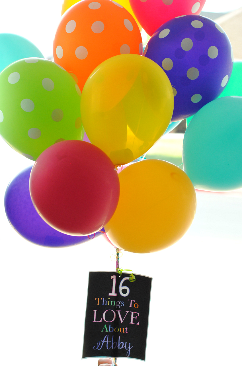 Balloon Birthday Gift Idea
