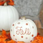 Fun & Simple Fall Decor For Your Home-Glitter Pumpkins