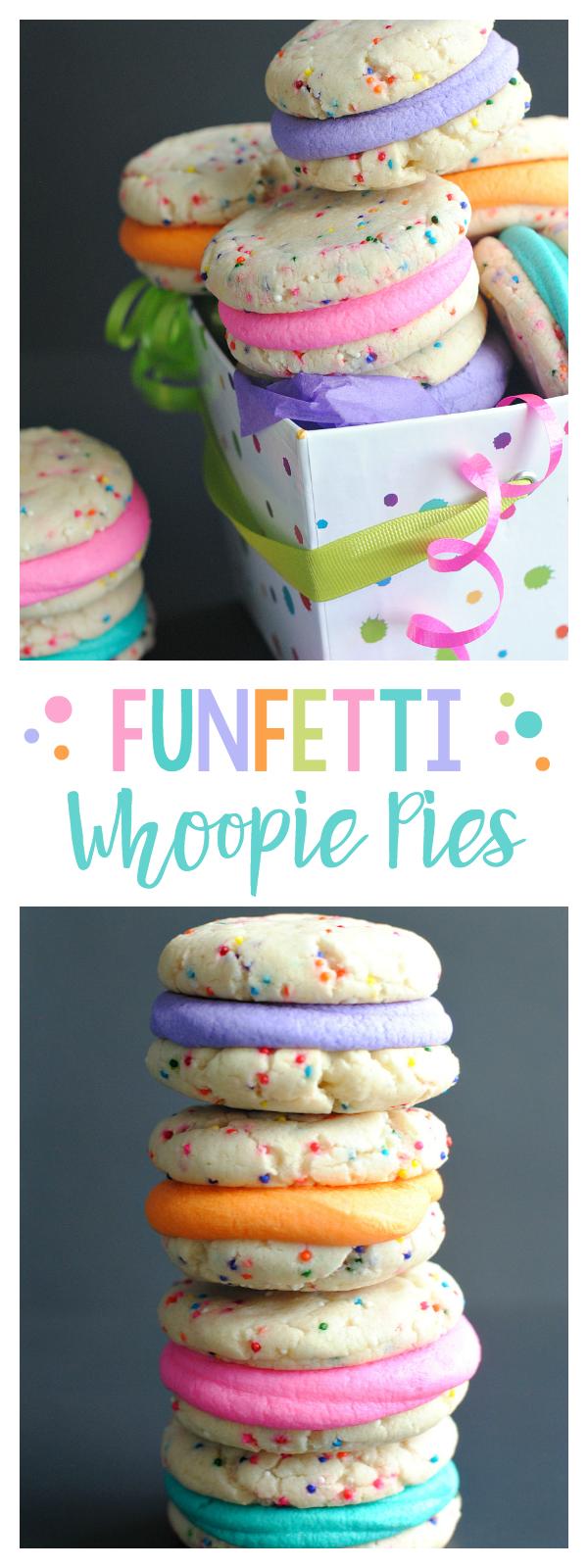 Funfetti Whoopie Pies-So Easy (5 ingredients), So cute!