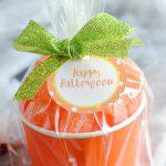 Candy Pumpkin Treat Cups