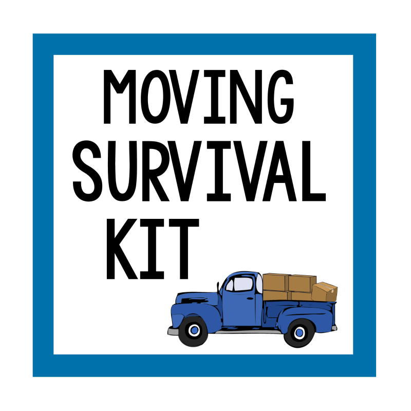 Moving Survival Kit Gift Tag
