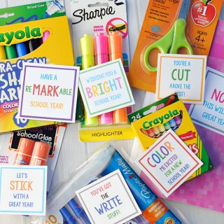Back to School Teacher Gifts: School Supply Gift Tags