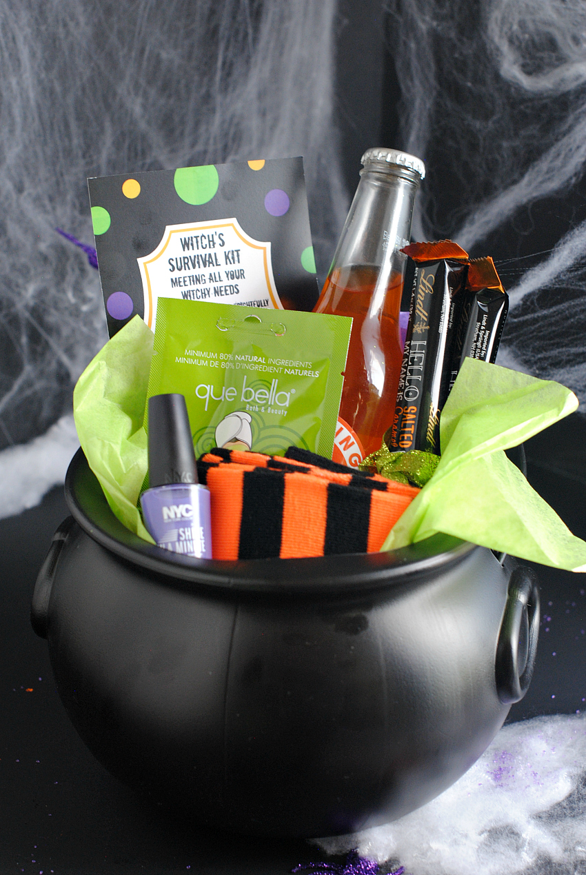 Witch's Survival Kit Halloween Gift Basket
