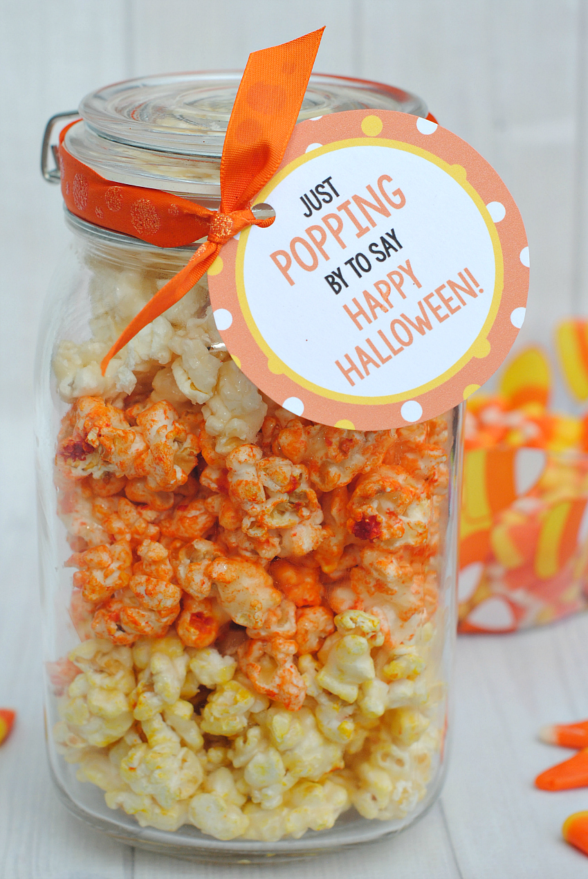 Candy Corn Popcorn Halloween Gift Idea