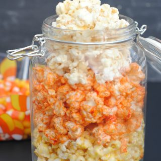 Candy Corn Caramel Corn Recipe