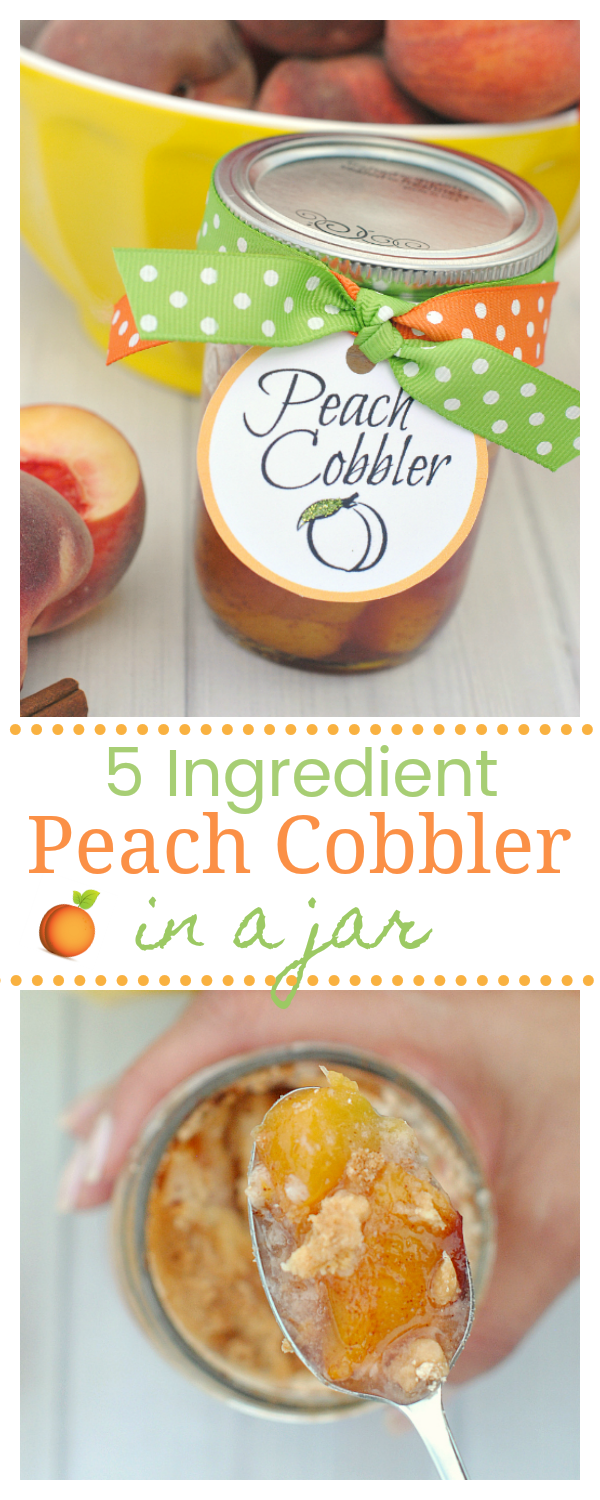 Easy Peach Cobbler Recipe-Also Makes a Great Gift in a Jar