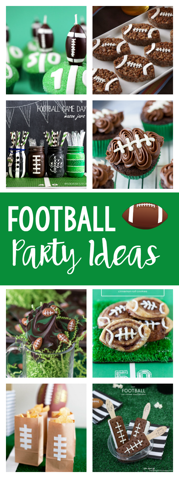 Football Party Ideas-Everything you need to throw a great football party, from food to favors, decorations to game ideas. #football #footballparty #superbowl #superbowlparty #footballfood