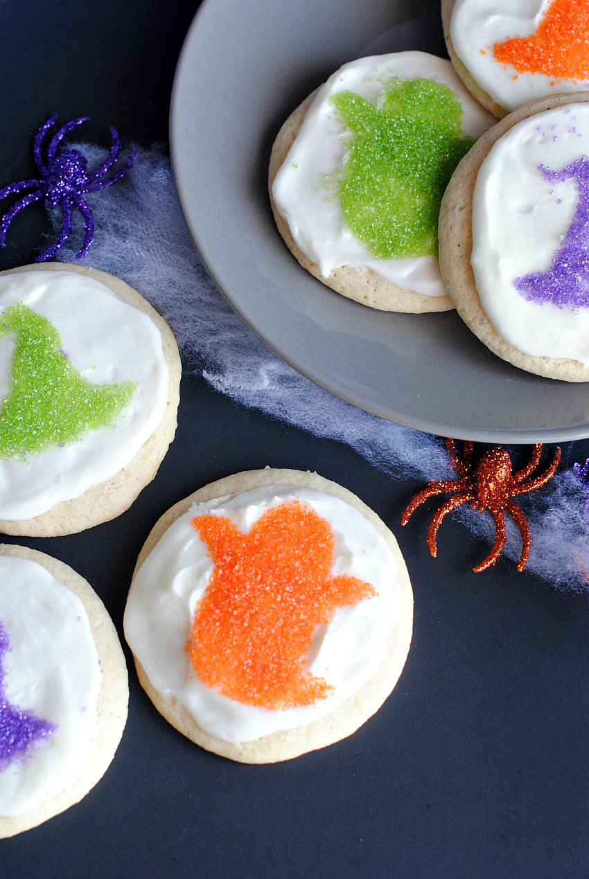 Cute Halloween Sprinkle Cookies