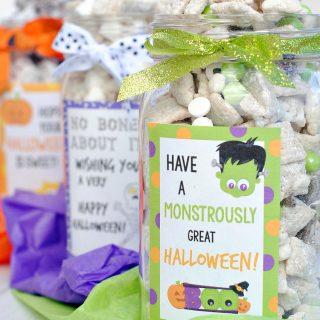 Halloween Inspired Muddy Buddy Gift Jars