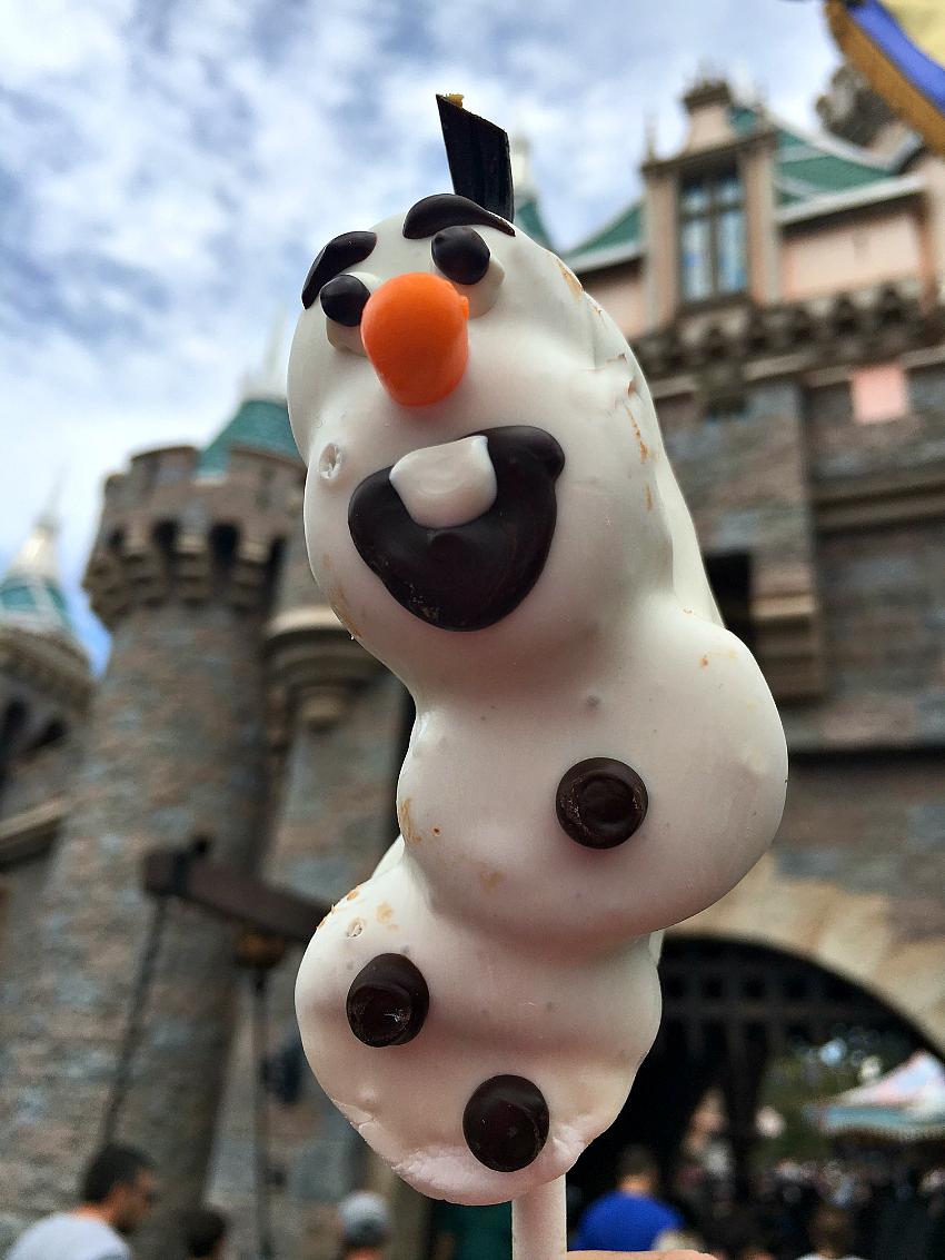 Olaf on a Stick Treat at Disney