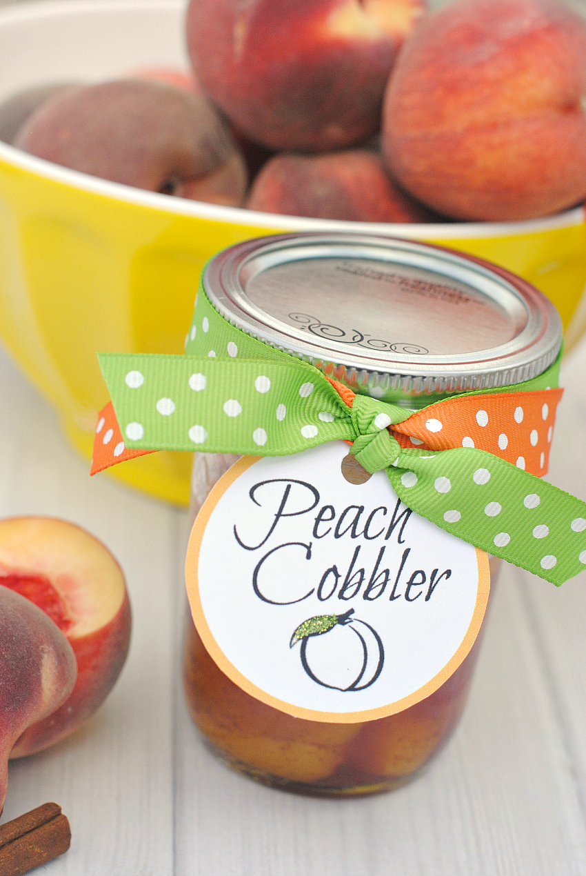 Easy Peach Cobbler Recipe in a Jar