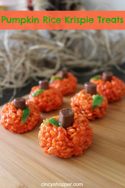 Pumpkin Rice Krispy Treats