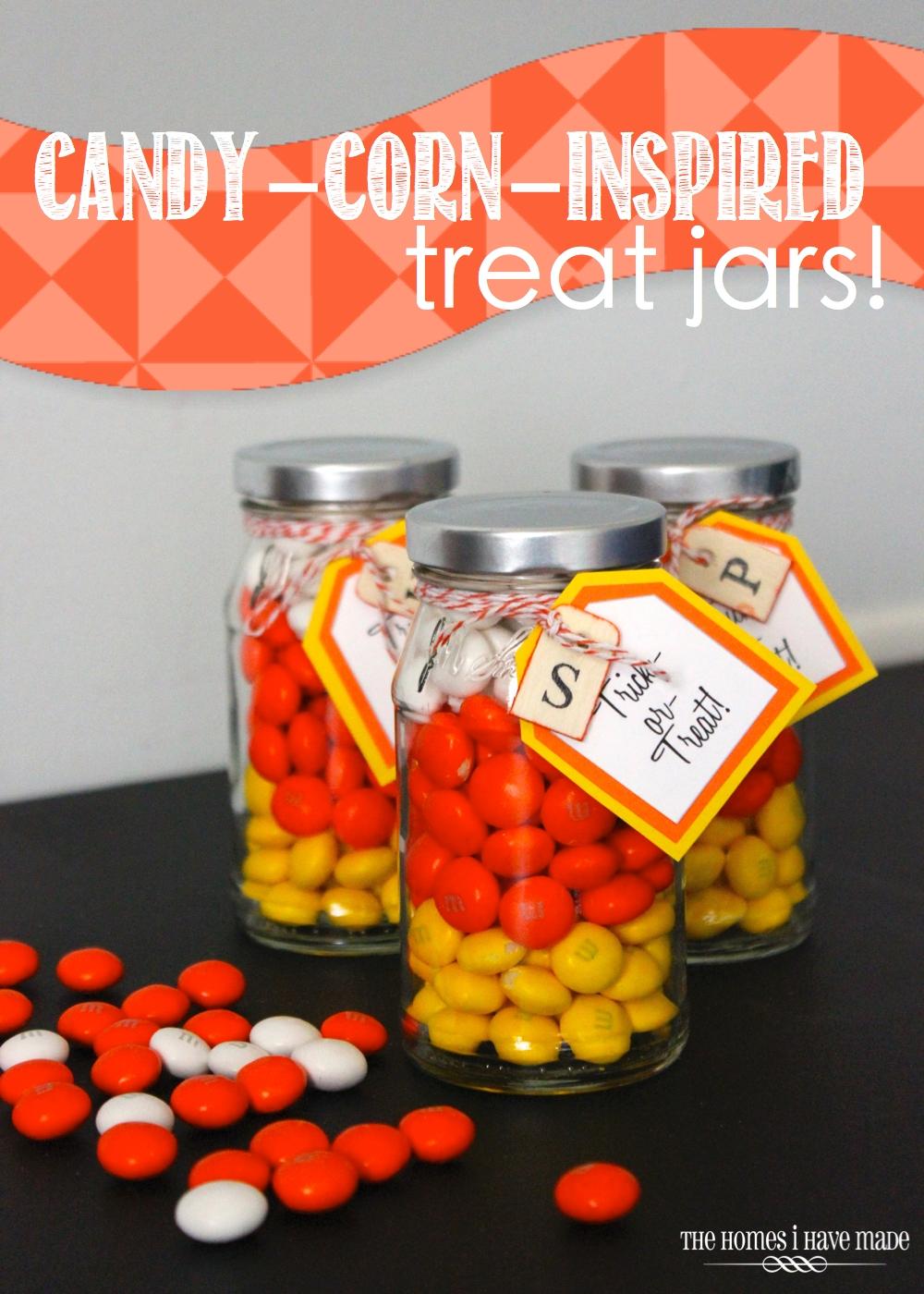 Candy Corn Treat Jars