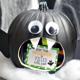 Bat Themed Halloween Gift Basket