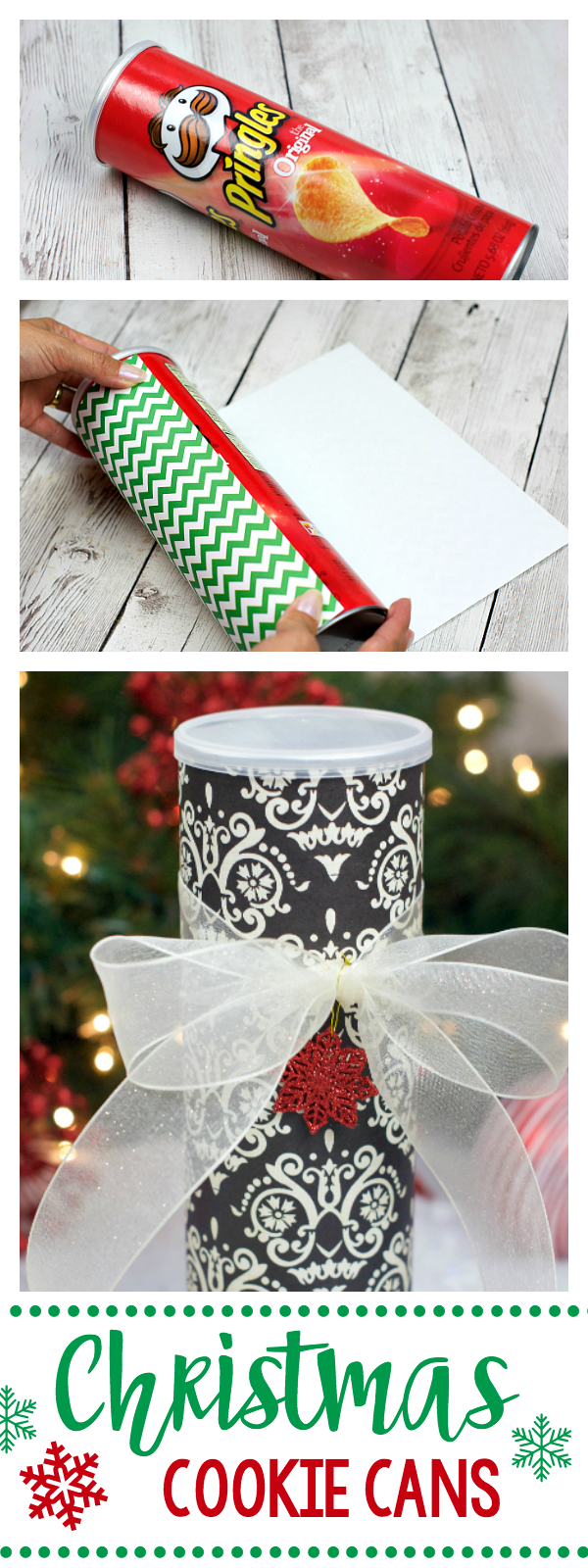 Creative Christmas Cookie Containers-Made with a Pringles Can