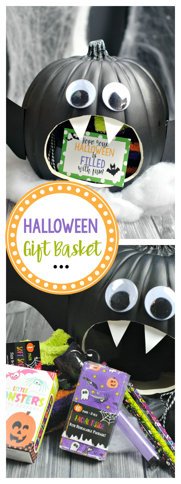 Bat Themed Halloween Gift Basket