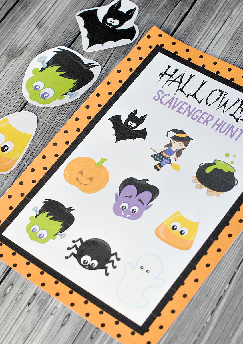 Kids Halloween Scavenger Hunt Party Game