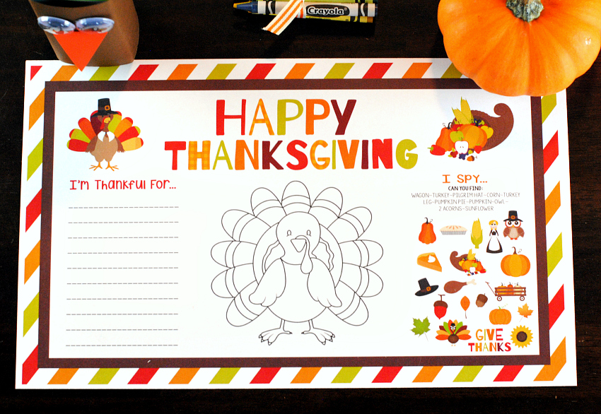 Happy Thanksgiving Placemats