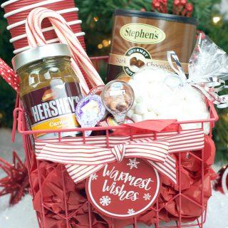 Hot Chocolate Gift Basket for Christmas