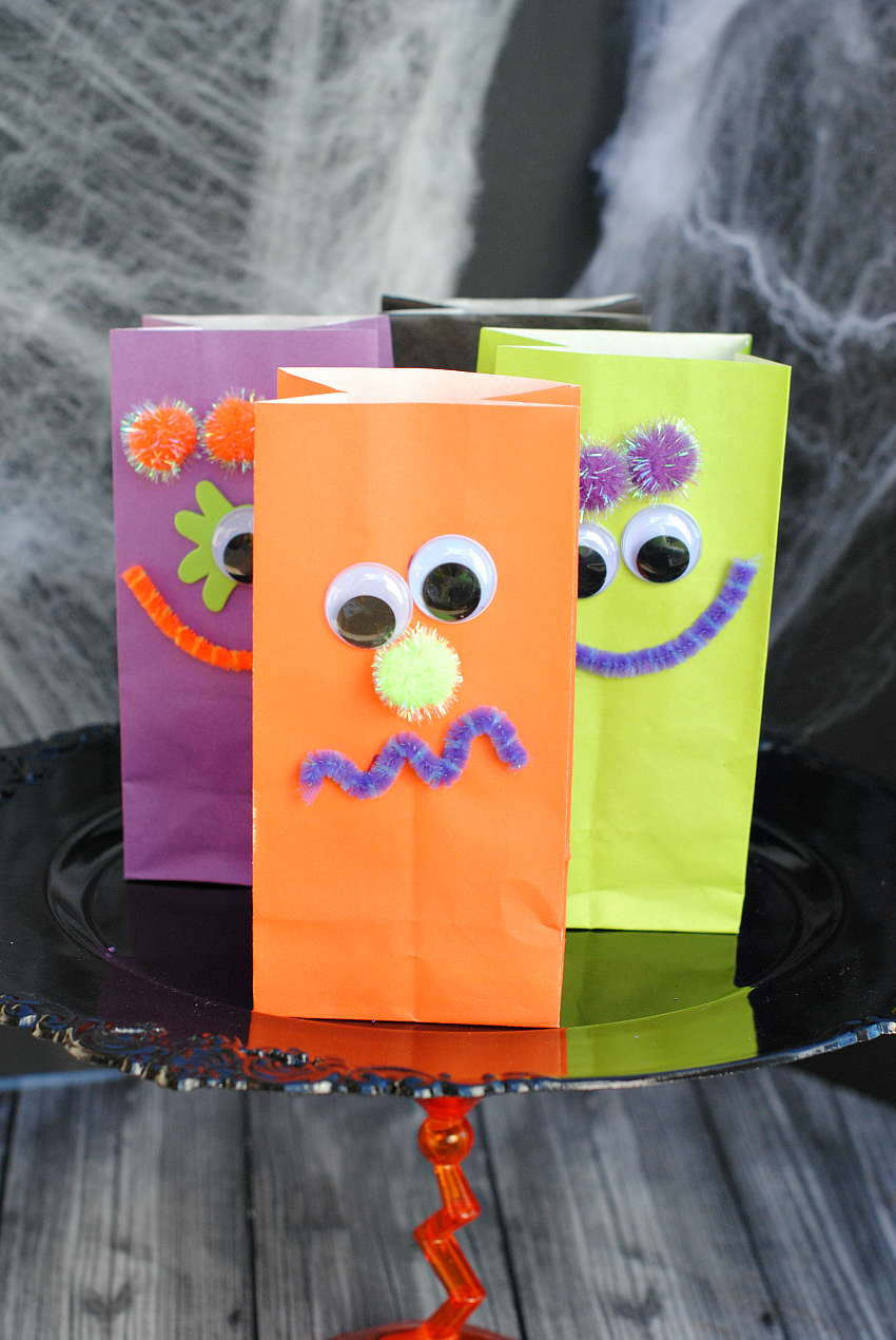 Monster Treat Bags Kids Craft