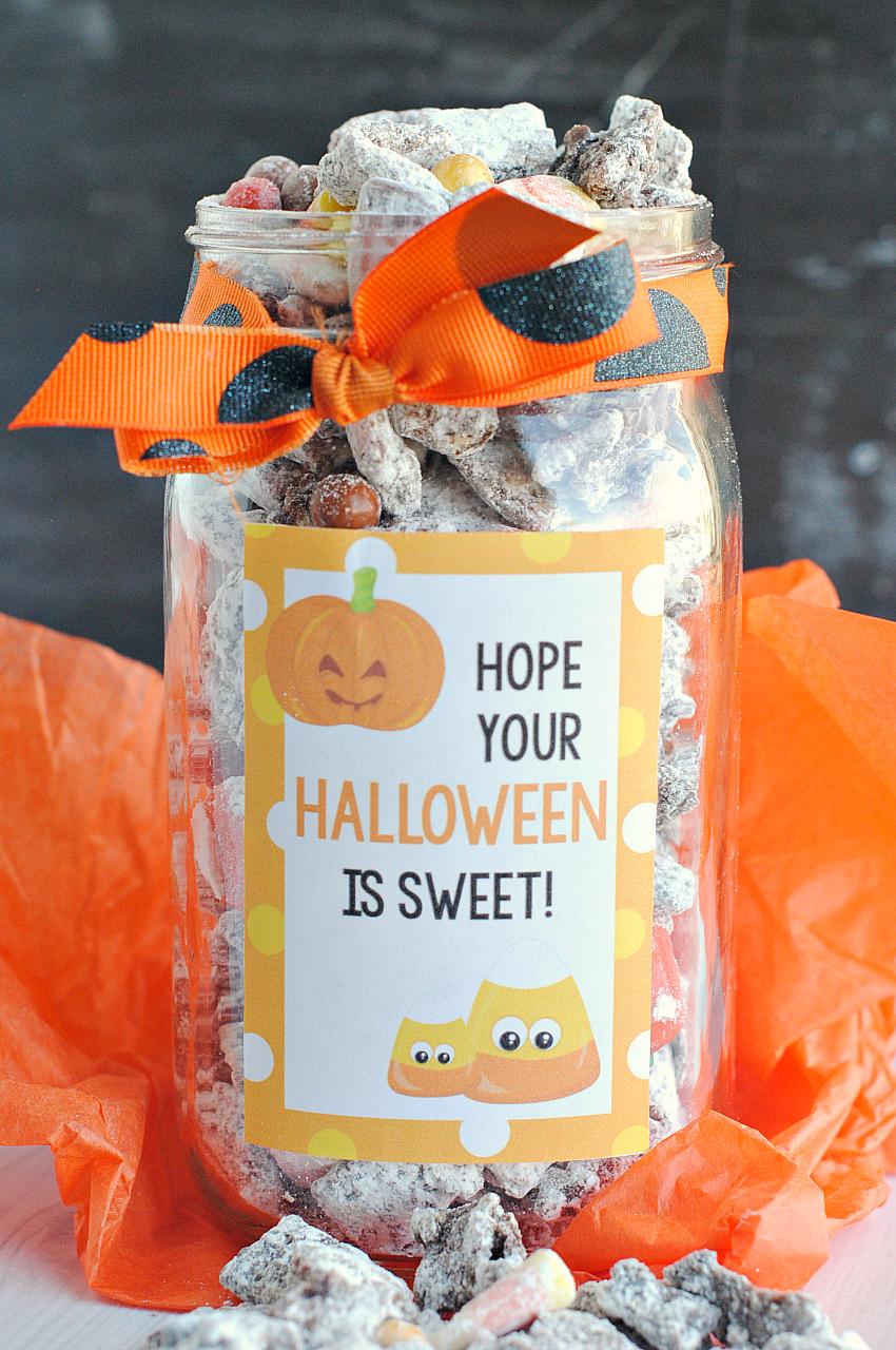 Halloween Gift-Jack O' Lantern Muddy Buddies
