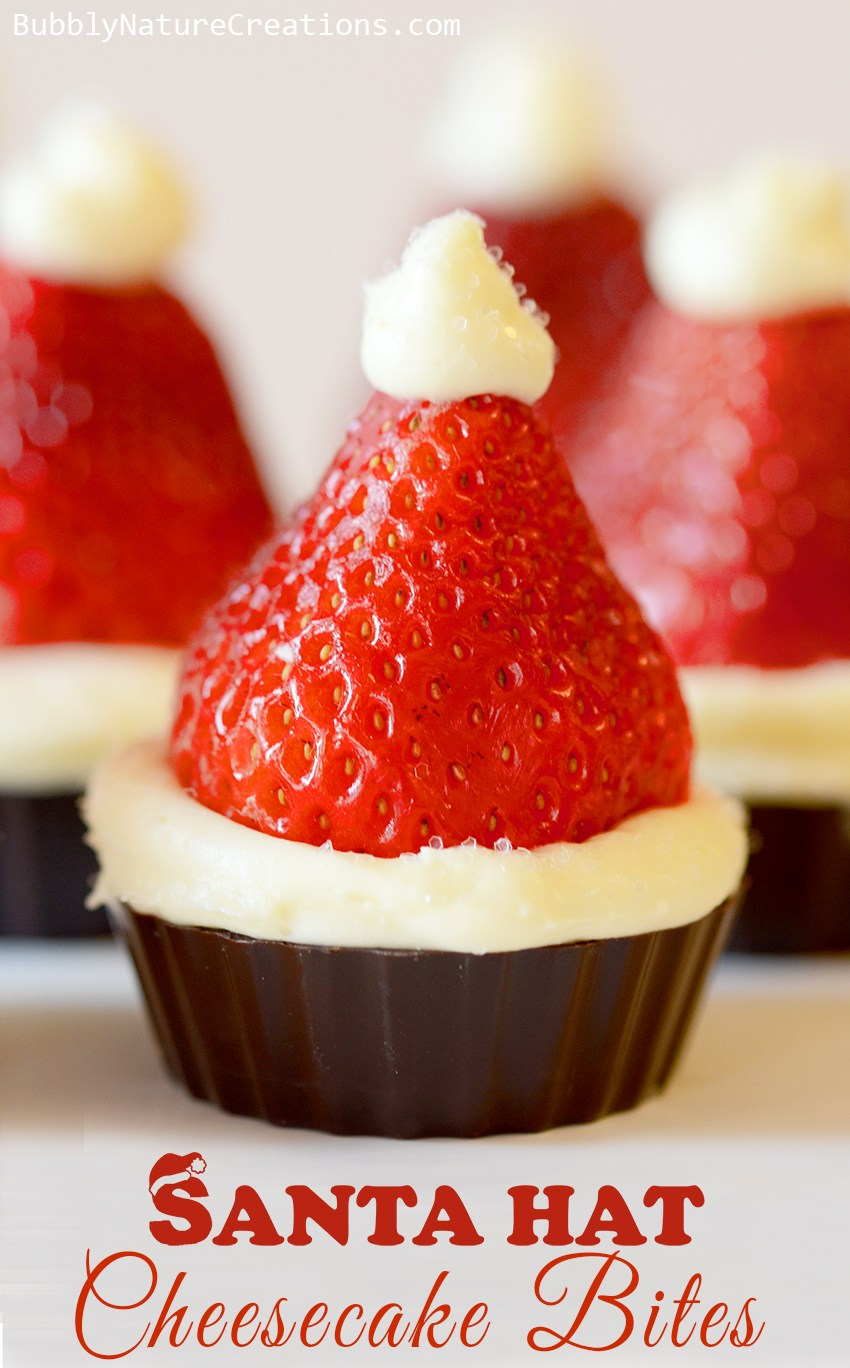 santa-hat-cheesecake-bites1