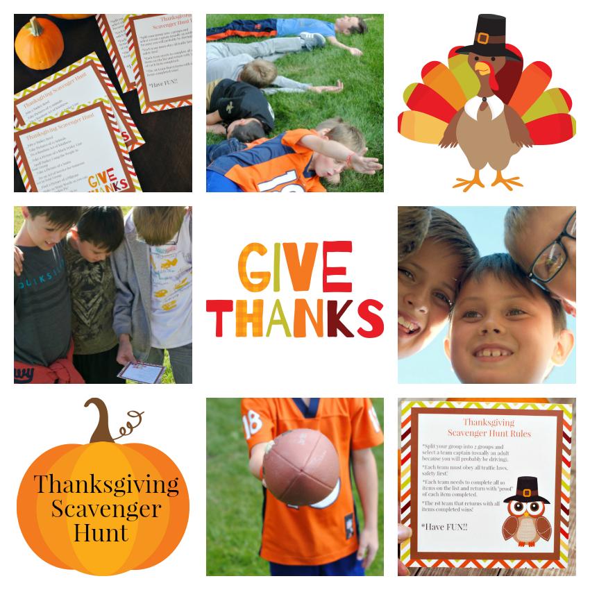 Thanksgiving Scavenger Hunt Collage