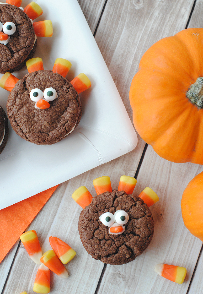 Easy Turkey Cookies for Thanksgiving