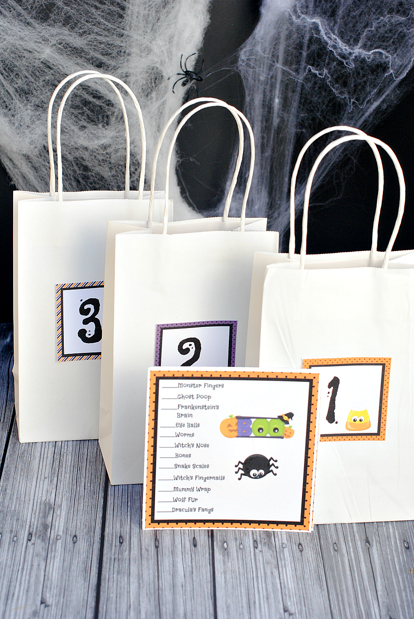 What's in the Bag Halloween Game
