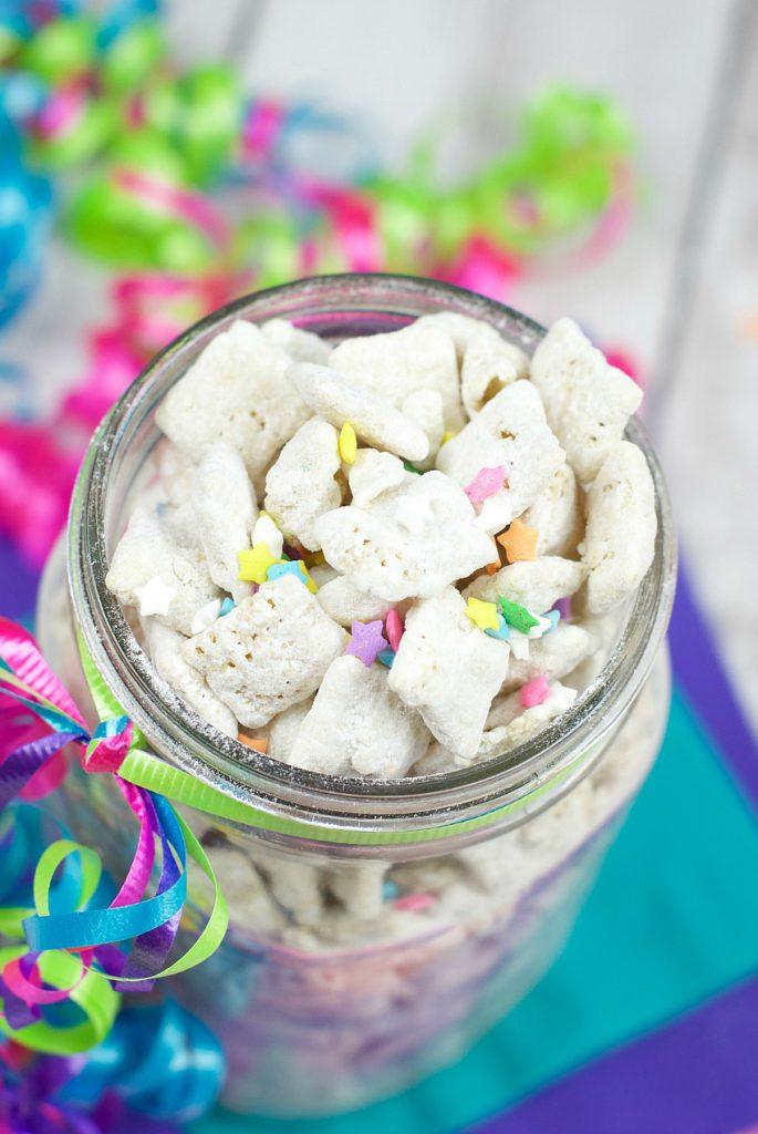 Cake Batter Muddy Buddies-Perfect for Birthdays