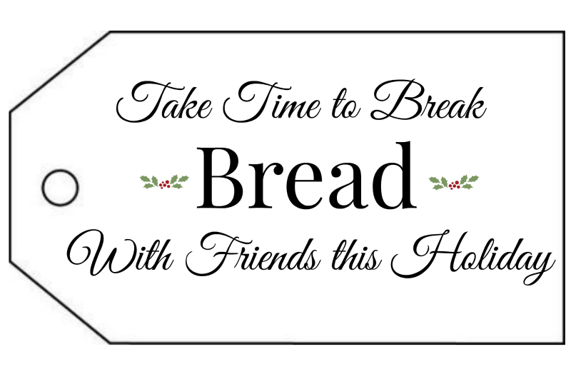 Bread Gift Tags for Christmas