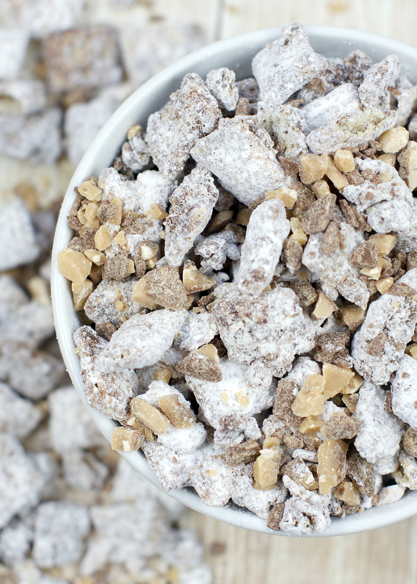 Caramel Toffee Muddy Buddies