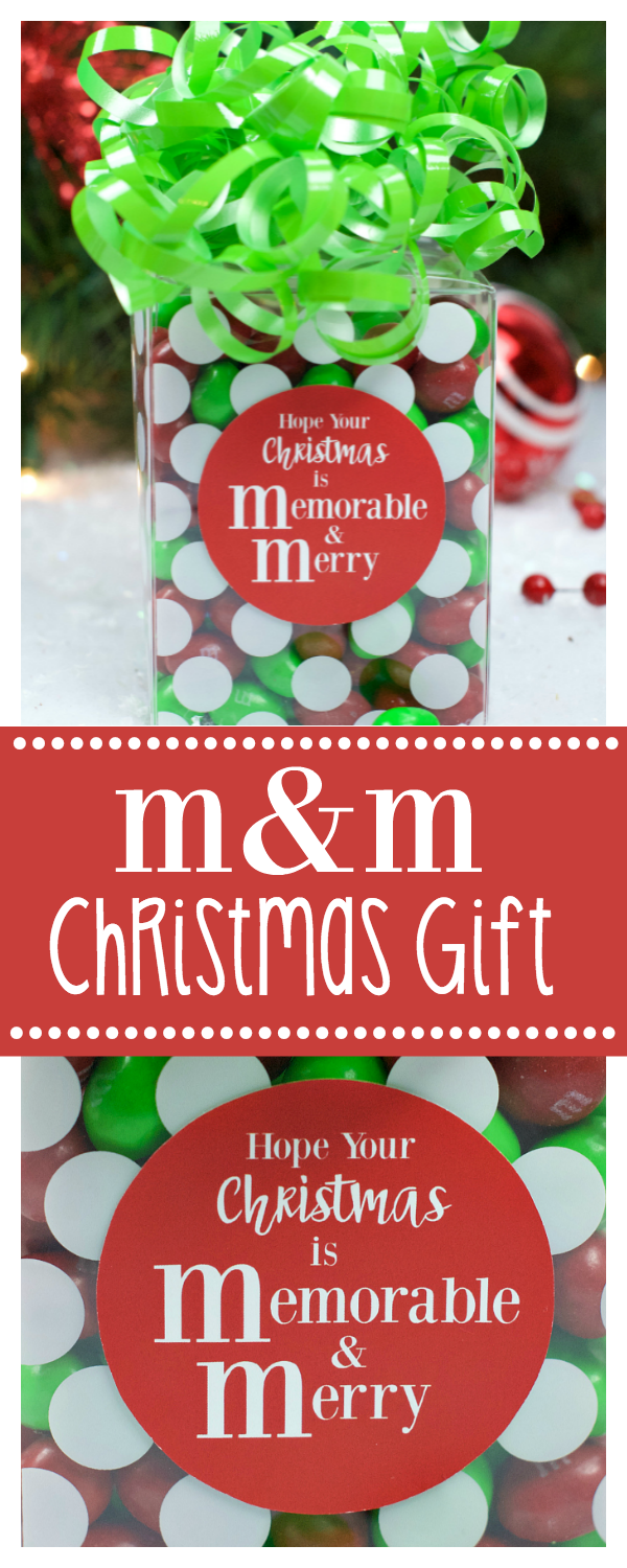 M&M Chocolate Christmas Gift Idea