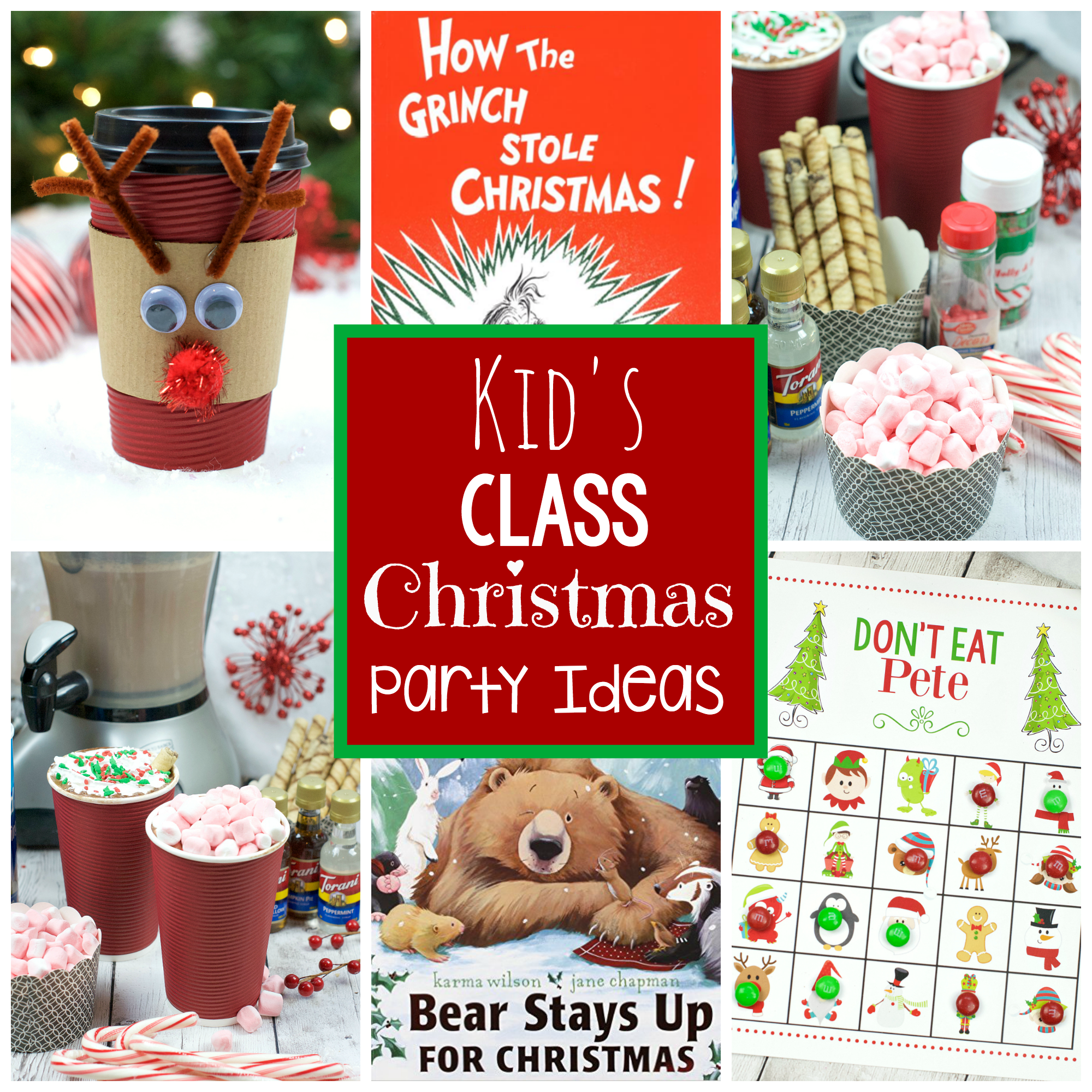 Christmas Holiday Party: Kid's Christmas Class Party Ideas