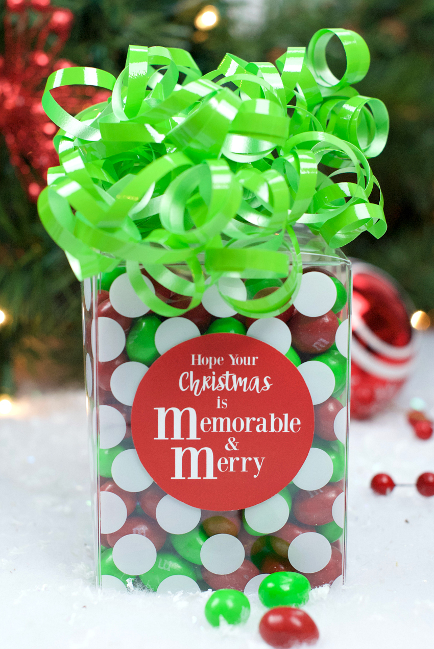 M&M Gift Idea for Christmas